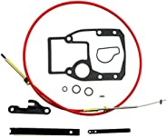 Shift Cable Assembly Kit Fit for OMC Cobra 1986-1993, Adjustment Tools Mounting Gasket Set Fit for OMC Cobra 9