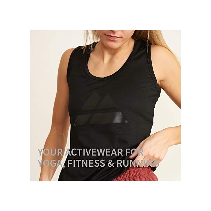 41kGi7tzuYL LA ELECCIÓN SOSTENIBLE PARA TU ENTRENAMIENTO: Nuestros tops de deporte SUTAIN para mujeres están hechos con materiales 100% reciclados a partir de y botellas de plástico recicladas. Estas camisetas están certificadas por OEKO-TEX estándar 100, BlueSign y GRS para entrenar cómoda y sosteniblemente TRANSPIRABLE Y CÓMODA: Esta camiseta sin mangas para mujeres, tiene un ajuste ceñido y se moldeará a la forma de cuerpo, aportándote libertad de movimiento. Esta camiseta de tirantes tiene incorporada un tejido en malla en la espalda para permitir que la piel respire durante los entrenamientos Materiales: Poliéster 100% reciclado