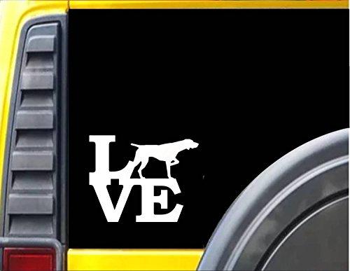 - German Shorthaired Pointer Love *J333* 6X6 inch dog decal sticker