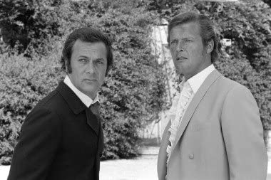 THE PERSUADERS IN THE PERSUADERS B/&W POSTER PRINT