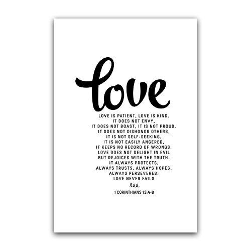 Love is patient, Love is kind, 1 Corinthians 13:4-8 Bible Ve