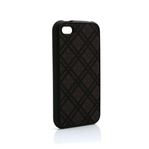 System-S Protector Case Schutz Hülle Cover Tasche Schwarz Gemustert für Apple iPhone 4 4S