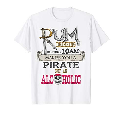 (Rum Drinking Pirate T-Shirt, Gasparilla Alcohol Drinker Gift)