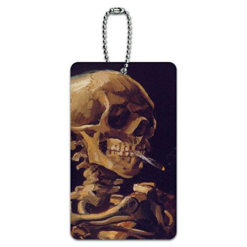 Skull Burning Cigarette Suitcase Carry