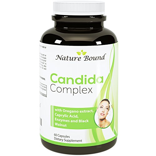 Pure Candida Cleanse + Caprylic Acid & Oregano Extract ● Super Detox - Potent Dosages ● Support Internal Wellness ● Protease and Cellulase Enzymes Supplement - USA Made By Nature Bound