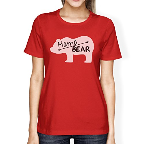 Camiseta Mama para Bear mujer manga Printing Red corta de pieza de una 365 41qTOwx5nv