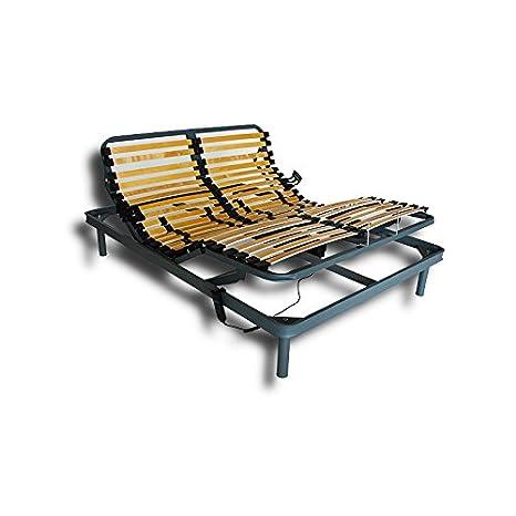 Ventadecolchones - Cama Articulada Reforzada Adaptator con Motor eléctrico Medida 150 x 190 cm: Amazon.es: Hogar