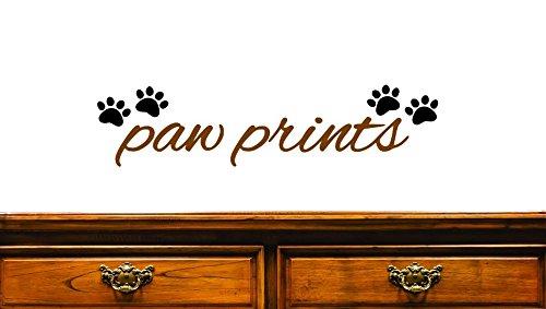 Design with Vinyl JER 1293 1Paw Prints Heart Animal Cat Dog Decoration Art Vinyl Wall Decal 8 x 20 Brown//Black