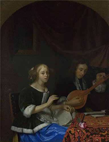 Oil Painting 'Godfried Schalcken A Woman Singing And A Man With A Cittern' 30 x 39 inch / 76 x 100 cm , on High Definition HD canvas prints is - Replica Eyeglasses Frames India