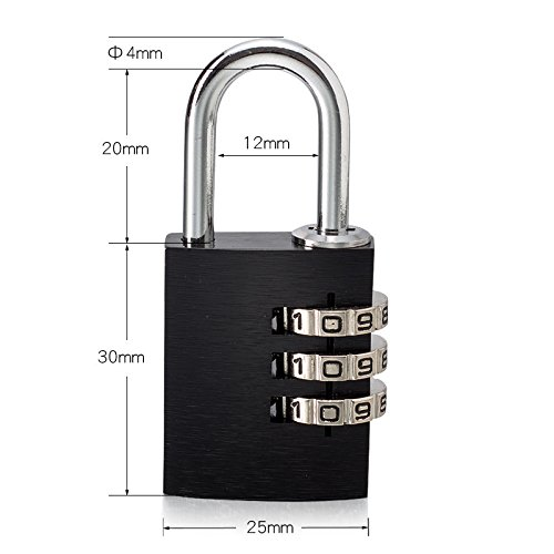 Small high-grade color solid aluminum alloy password lock gym locker luggage luggage lock padlock 3 password TSA lock car padlock backpack lock dial lock gym locker luggage trolley padlock toolbox dra