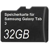 32GB Speicherkarte für Samsung Galaxy Tab 3