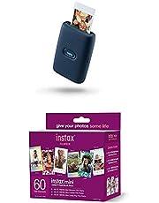 $163 » Fujifilm Instax Mini Link Smartphone Printer - Dark Denim + w/60-pack