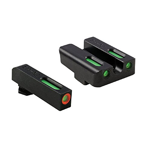 TRUGLO Tru Glo Brite-Site TFX Pro, Sight, fits Glk 17,17L,19,22,23,24,26,27,33,34,35,38,39, Tritium/Fiber-Optic, Day/Night Sight, 24/7 Brightness, Orange Ring on Front Sight