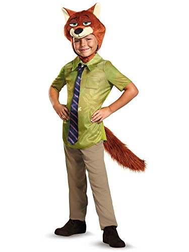 Nick Wilde Classic Zootopia Disney Costume, Medium/7-8 -
