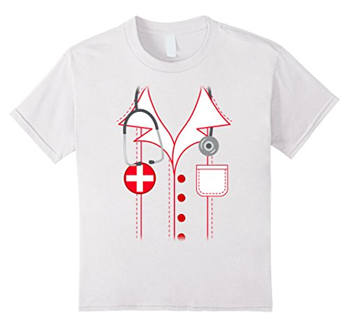 Kids Nurse Costume Shirt Halloween Medical 6 White - Nurse Outfit For Kids