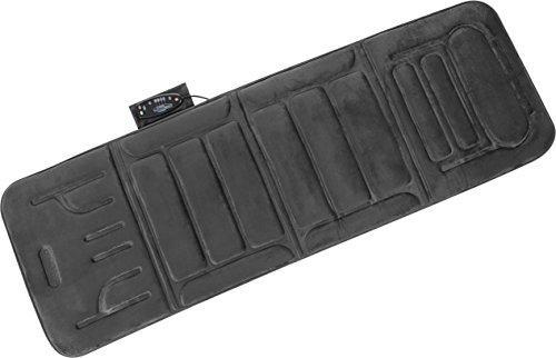 (Relaxzen 10-Motor Massage Plush Mat with Heat and Extra Foam, Gray)