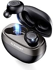 ELEGIANT TWS Bluetooth Kopfhörer 5.0 in Ear Wireless Kopfhörer Kabellos Ohrhörer True Wireless Earbuds Sport drahtlos mit Ladekästchen 35 Stunden Spielzeit+Stereo Anruf+IPX6 wasserdicht