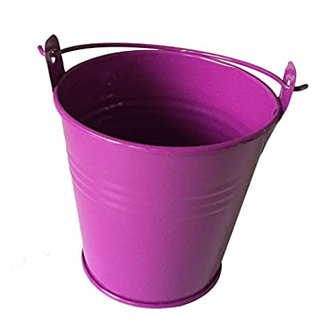 LXKBD Purple Creative Metal Bucket Candy Box Gift Pails for Wedding Baby Shower Party ,Size S - Folding Candy Pail