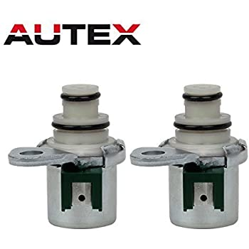 AUTEX 4F27E Transmission Shift Solenoid Auto Control A&B Repair Kit Set Compatible With 1999-up Ford Focus Mazda Protege, Pack of 2