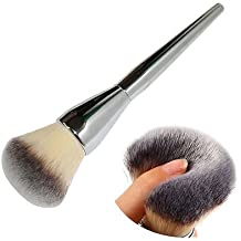 Very Big Beauty Powder Brush Blush Foundation Round Make Up Tool Large Cosmetics Aluminum Brushes Soft Face Makeup,Free Shipping.
