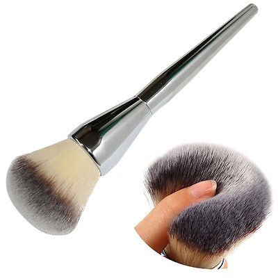 [Very Big Beauty Powder Brush Blush Foundation Round Make Up Tool Large Cosmetics Aluminum Brushes Soft Face Makeup,Free] (Princess Anastasia Halloween Costume)