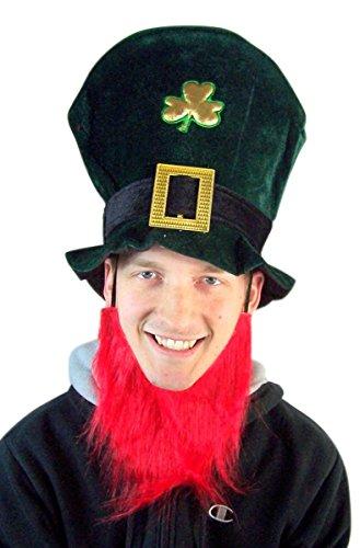Forum Novelties Saint Patrick's Day Leprechaun Green Top Hat with Red Bead -