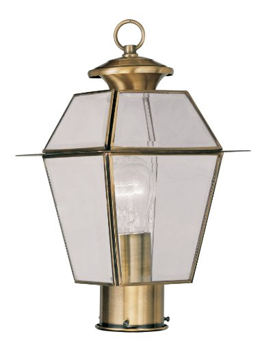 Livex Lighting 2182-01 Westover 1-Light Outdoor Post, used for sale  Delivered anywhere in USA