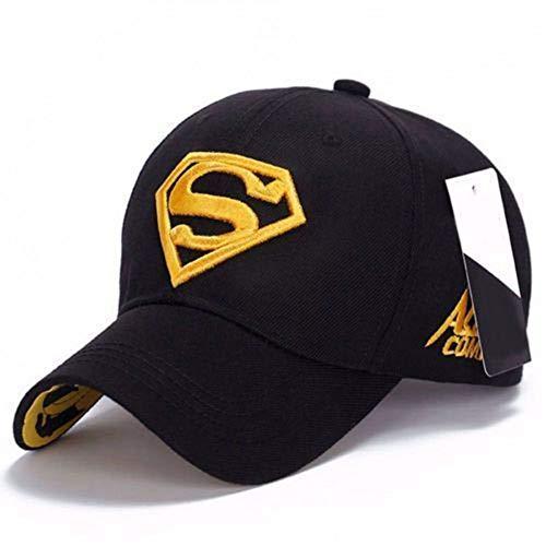 YUGUO Sunhat Embroidery Cap Leisure Sports Superman Cap Men Women Unisex Adjustable Fit Visors Hip-Hop Stretch Hat