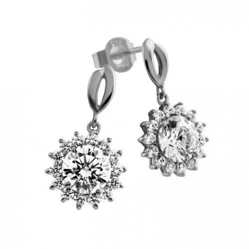 Femmes Boucles d'oreilles argent 6216731582 zircons Diamonfire