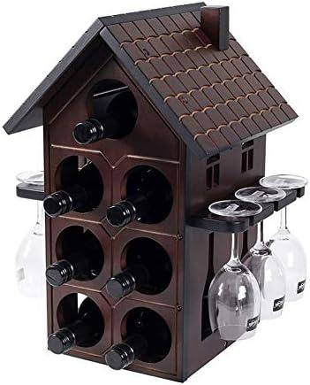Shocly 7 Botellas EstanteríA De Vino Botellero para Estante Botellas Agua O Refrescos Escaparate Estante Tinto DecoracióN Moda Creativo
