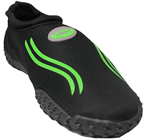 Aqua Shoes Easy Wave Womens Neon Green USA 9 Water Black 7wqfgTRExq