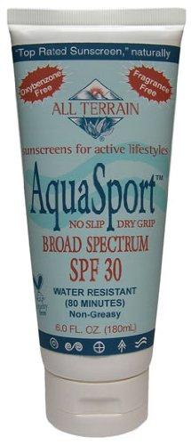 All Terrain Company Performance Sunblocks Aquasport SPF #30 - 6 Oz, Pack of 3