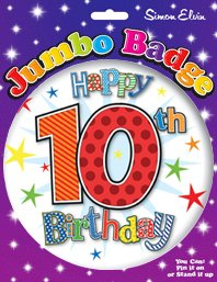 Age 4 By Creative Boy Party Jumbo Boys Happy Birthday Badge 15cm