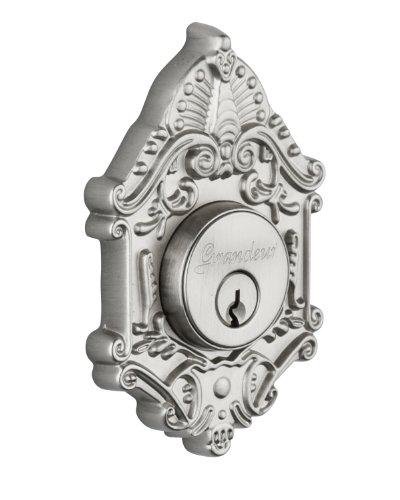 Grandeur Grande Victorian Double Cylinder Deadbolt, Satin Nickel ()