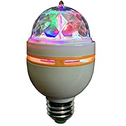 LED Disco Party Bulb, Disco Light, DJ Light for Party\'s, Chrystal Ball Effect - Ships from USA