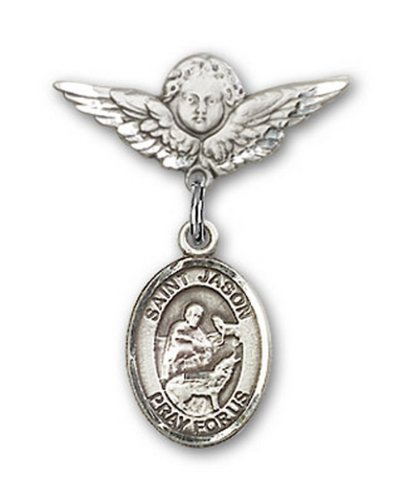 Icecarats Créatrice De Bijoux En Argent Sterling St. Jason Charme Ange Pin Badge 7/8 X 3/4