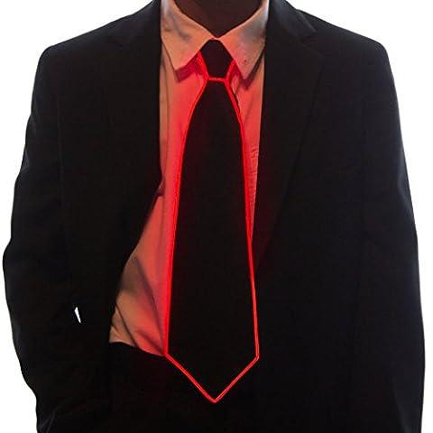 Neon Nightlife Light Up Neck Tie for Boys, Red - Kids Necktie