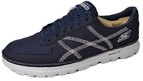 Mens Skechers On The Go - Court; Lightweight, Flexible, Casual Fashion Lace Up Trainers Navy/White