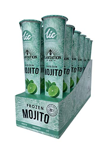 LIC Mojito Frozen Alcoholic Cocktail Ice Pops – 12 Pack