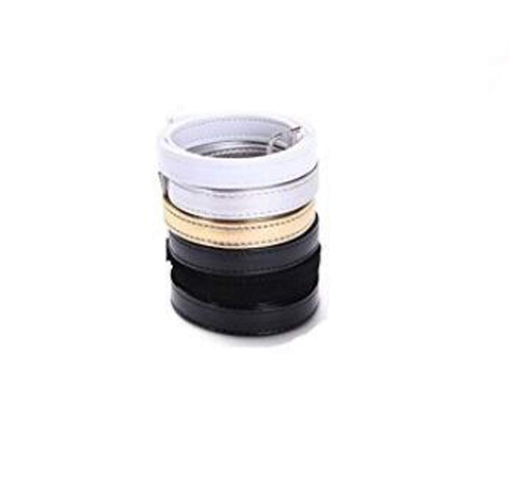 1Pair Anti-Slip Anti-Loose PU Leather Shoe Straps-Detachable Holding Loose High Heel Shoelace Accessories (Black)