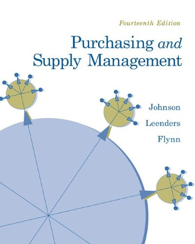 Purchasing and Supply Management (The Mcgraw-hill/Irwin Series Operations and Decisions Sciences)