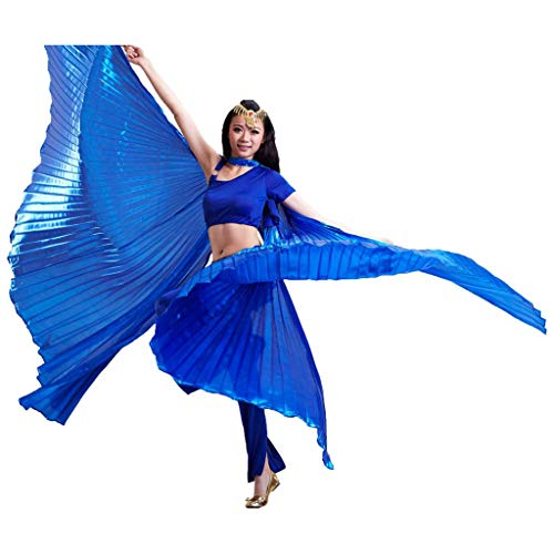 Pilot-trade Women's Egyptian Egypt Belly Dance Costume Bifurcate Isis Wings Navy Blue