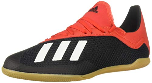 adidas Unisex X 18.3 Indoor, Black/Off White/Active red 3 M US Little Kid (Indoor Soccer Shoes For Youth)