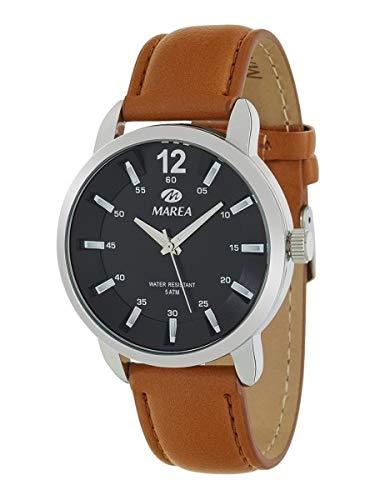 Marea B21171/2 Reloj Hombre con correa marron y pantalla en negro: Amazon.es: Relojes