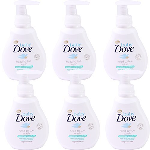 Baby Dove Head to Toe Wash, Sensitive Moisture, 6.76 Ounce (Pack of 6)