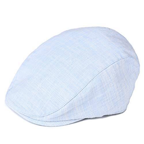 GenericAE86 Toddler Kid Boy Newsboy Flat Cap Textured Linen Scally Driver Golf Page Boy Hat Age 4-7Y White by GenericAE86