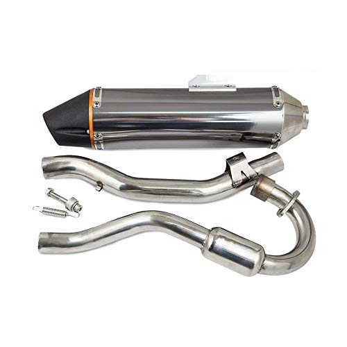 (NEW! Performance ALUMINUM EXHAUST MUFFLER SPARK ARRESTOR FOR HONDA CRF150F CRF230F 03-16 SILVER)