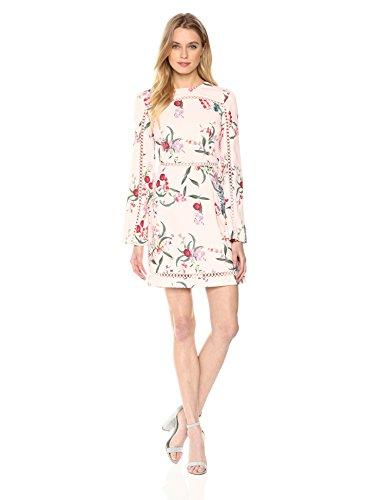Keepsake The Label Women's Indulge LS Mini Dress, Blush Botanic Floral, S by Keepsake The Label