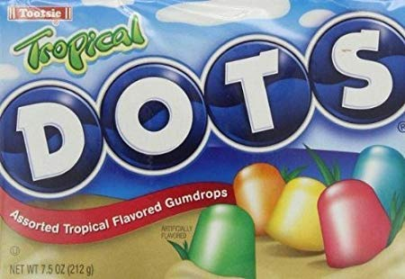 - Tropical Dots Assorted Gumdrops Candy (Pack of 3) 7.5 oz Theater Boxes