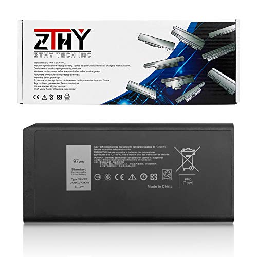 ZTHY New 97Wh X8VWF Laptop Battery Replacement for Dell Latitude E5404 5404 Latitude 14 Rugged 7404 7414 5414 Series Notebook 4XKN5 DKNKD VCWGN 0VCWGN YGV51 453-BBBE 11.1V 8700mAh 9-Cell